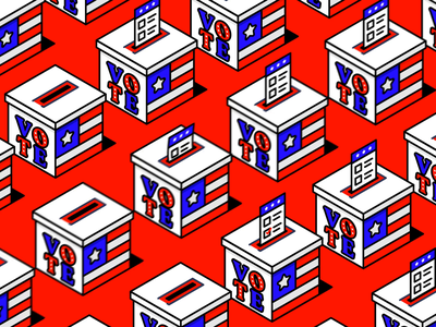Vote 2020 | Ballot Animation line art loop animation united states voting after effects animation ballot election 2020 vote