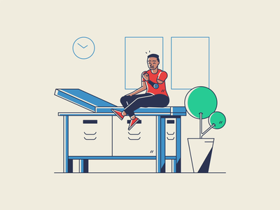 Solo Parenting Illustrations adults teen boy woman illustration doctor prosthetic living room people humans parents