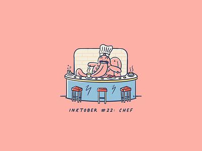 Vectober 2020 #22: Chef series handdrawn illustration procreate tongue inktober2020 vectober inktober chef pokemon