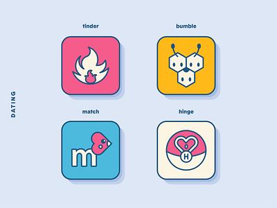 PokéOS App Icons: Dating love illustration icon set icon dating tinder bumble app app icon pokemon