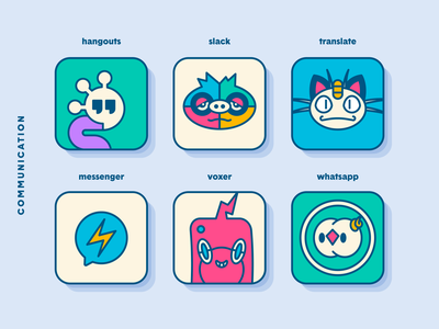 Pokemon iOS App Icons: Communication icons pokemon app app redesign slack whatsapp messenger ios apple mashup fan art