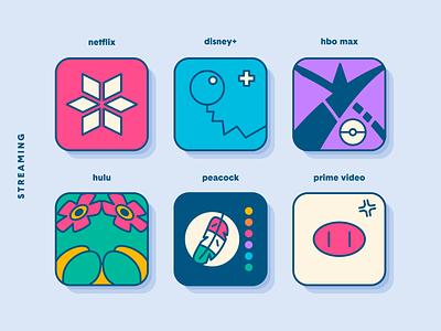 Pokemon iOS App Icons: Streaming icons series icon set redesign app icon apple ios mashup netflix hbo pokemon
