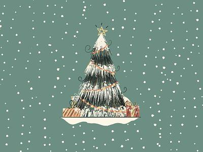 Christmas Tree Animation procreate 2d stop motion tree christmas tree christmas animation
