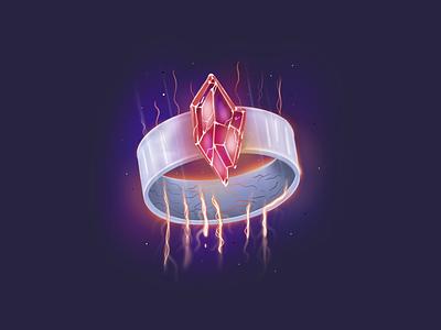 D&D Ring Item game art jewelry procreate jewel gem ring item