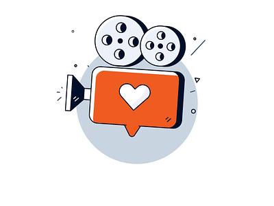 Marketing to Millennials bounce heart loop animation reel millennial film camera like button like