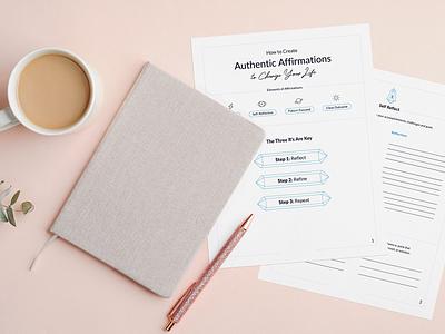 Money Affirmation Printable & Mockup mockup write journal paper print diy meditation zen affirmation
