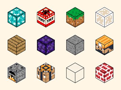 Minecraft Blocks game art stone glass diamond texture game video game isometric block minecraft