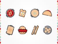 Kids Food Icons