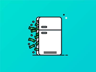 Leftovers adobe illustrator money save money refrigerator fridge food illustration leftovers
