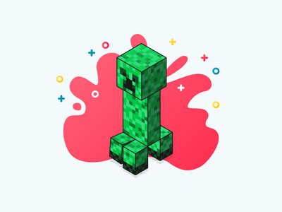 Creeper isometric pixel art game art plus sign craft creep character design explosion minecraft creeper glitch
