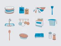 60's Kitchen Icons