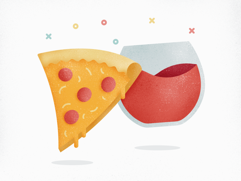 Pizza and Wine food grunge pair grunge texture wine glass pepperoni alcohol food and drink wine pizza