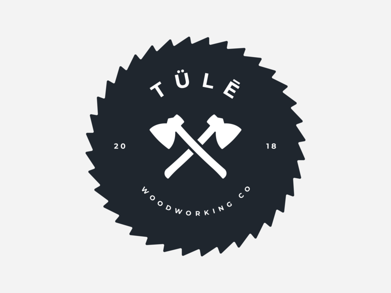 Tülē Woodworking Logo logo design cut illustrator wood woodworking circle logo axes logo blade saw