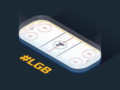 Blues Isometric Hockey Rink