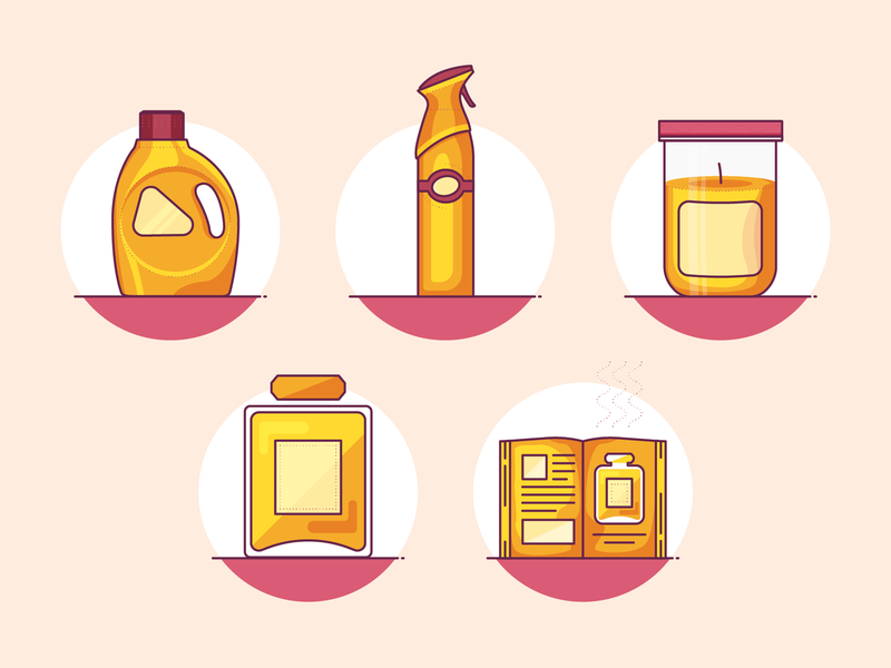 Fragrance Icons fragrance scent odor icon design icons icon set magazine cologne perfume detergent candle