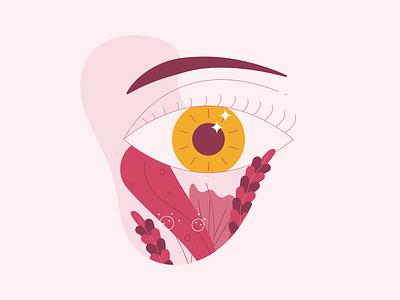 Eye beauty sleep beauty sleep blobs blobby line illustration line art iris eyebrow plant plants eyes eye
