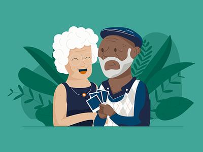 Reminscing marriage married plants seniors senior old man elderly people couple polaroid