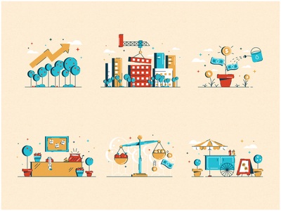 Stock Market for Kids invest investing sales money growth construction market stock market stocks icons