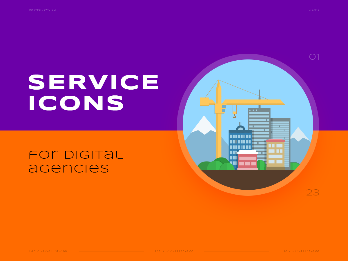 Service icons №1 illustration icons digital azatdraw web design