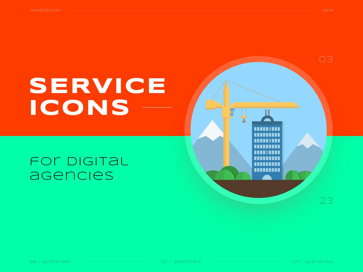 Service icons №3 illustration icons digital azatdraw web design