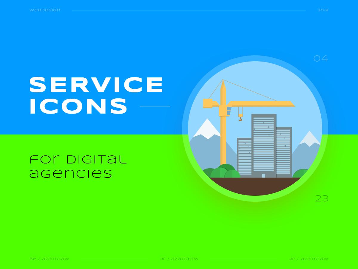 Service icons №4 illustration icons digital azatdraw web design