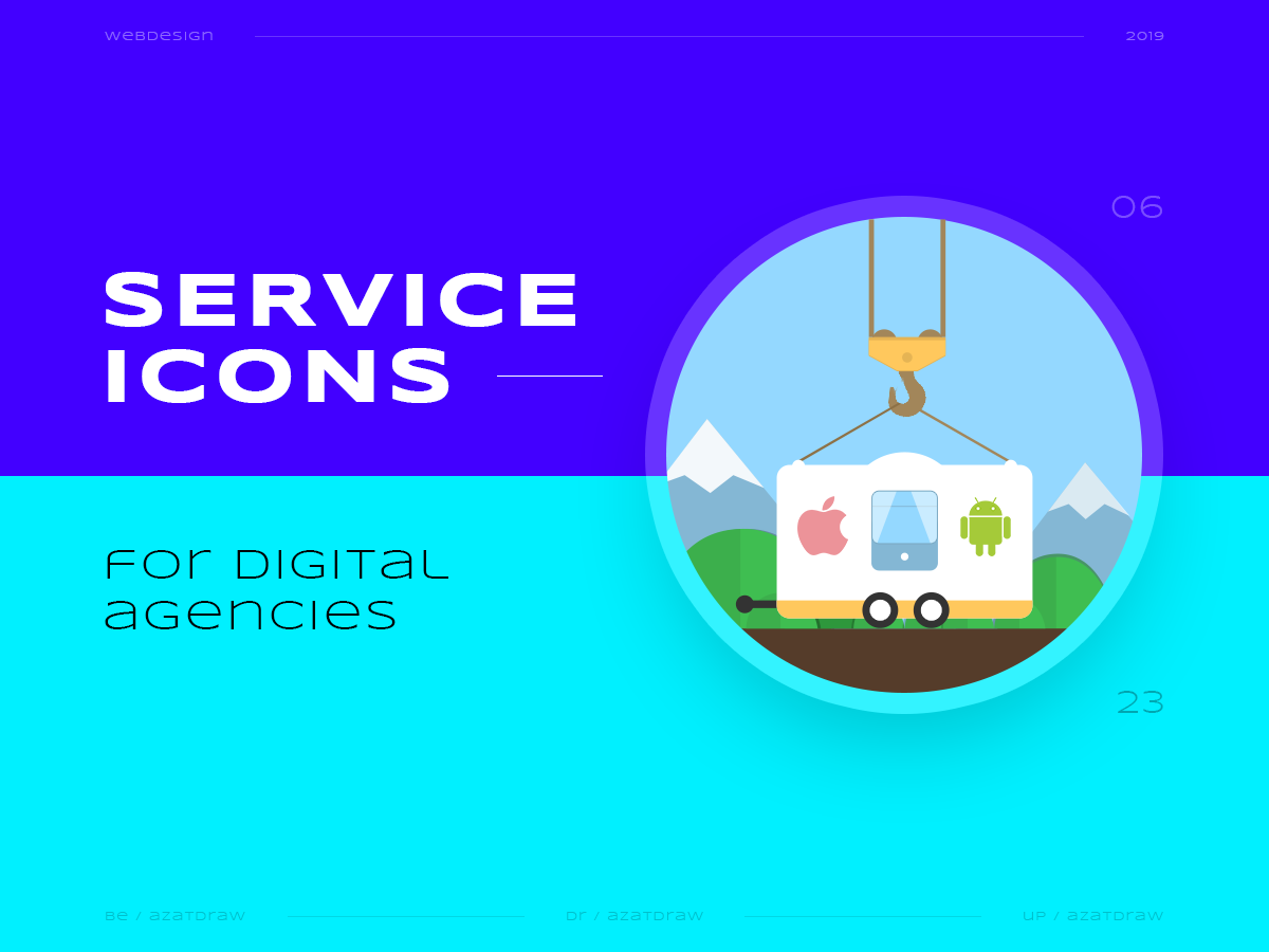 Service icons №6 illustration icons digital azatdraw web design