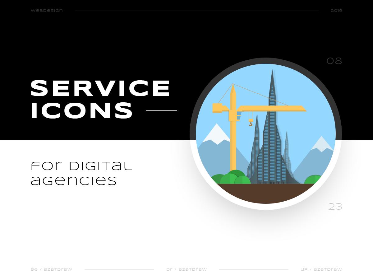 Service icons №8 illustration icons digital azatdraw web design