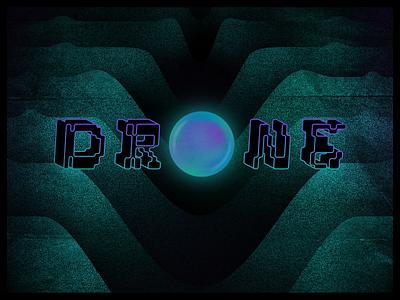 Drone Day 2021 space portal dark experimental music drone branding lettering graphic design texture design illustration