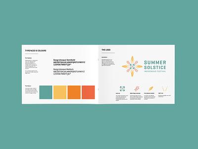 Summer Solstice Brand Identity design graphic design brand guide logo brand