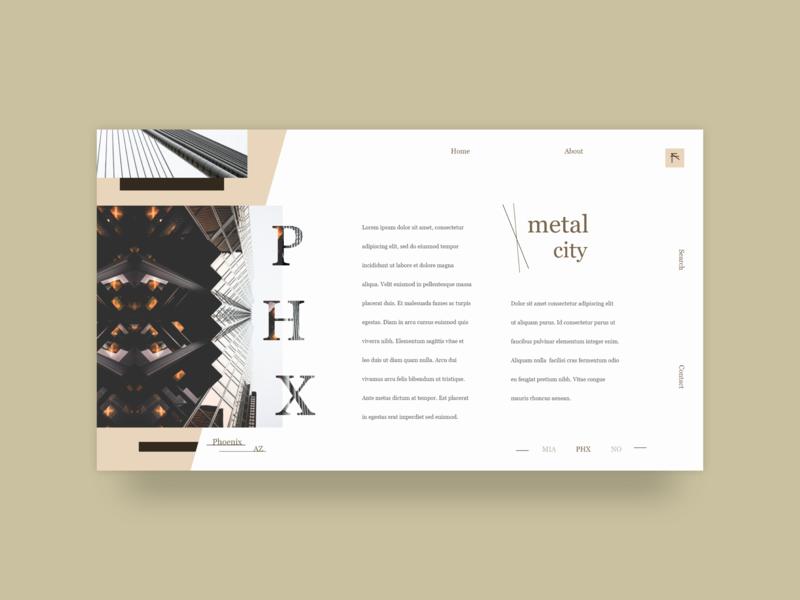 Minimal City UI Design xd adobe xd minimal web design ui design ui
