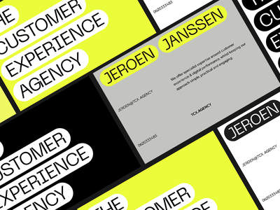 The Customer Experience Agency Business Card font typogaphy business cards businesscard brand design branding brand identity