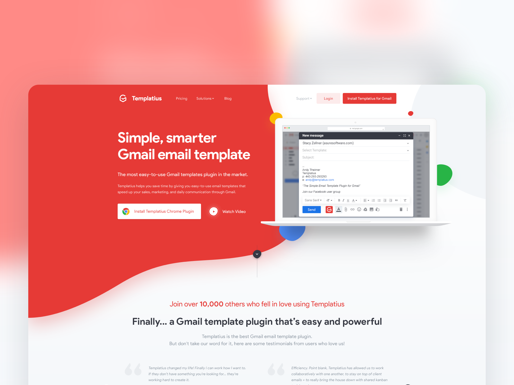 A Simple, smarter Gmail email template - Templatius by Dunx Design