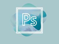 Photoshop logo print poster art album illustration design colors concept blue effect wave redesign logo photoshop