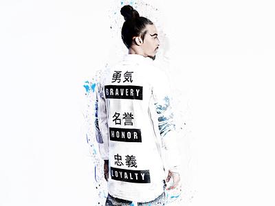 UNDER THE WAVE japan lookbook fashion streetwear graphic design photoshop japanese art menswear