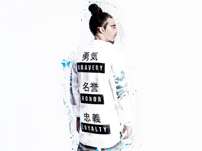 UNDER THE WAVE japan lookbook fashion streetwear graphic design photoshop japanese art menswear