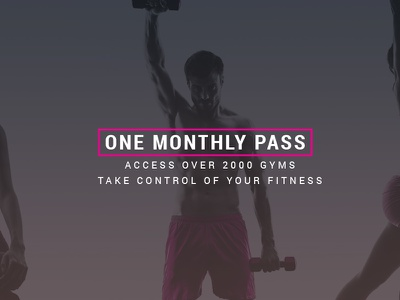 One Monthly Pass email app fitness gym