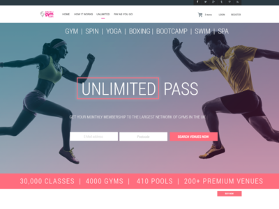 Homepage resdesign ui design fitness gym