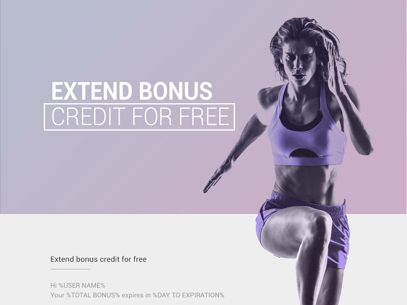 Gym Email Newsletter promo email gym fitness web