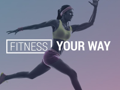 Fitness Your Way  promo web design fitness gym