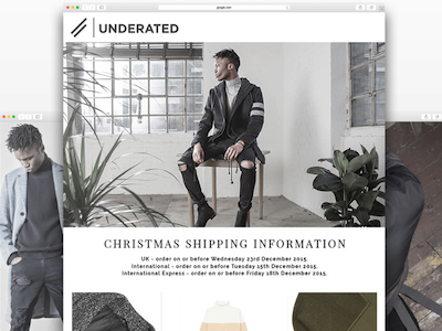 Underated London Newsletter streetwear fashion newsletter email