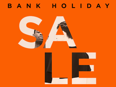 Bank Holiday sale image streetwear fashion newsletter email