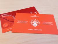 Strava Races Card Handouts