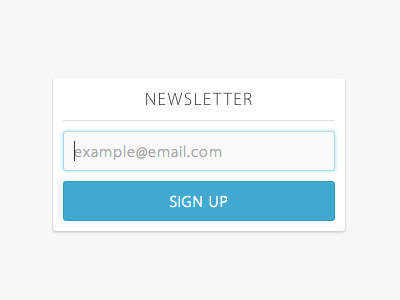 Sign up form sign up cakemail form submit button ui ux blue email newsletter sidebar