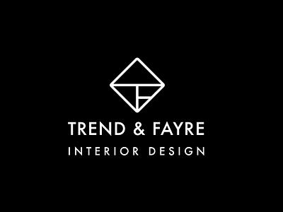 Trend & Fayre logo logo futura interior design design furniture interior