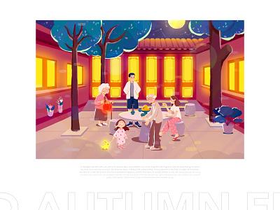 Mid-autumn Festival-BeiJing illustration paintings