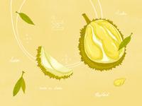 Tarte au durian