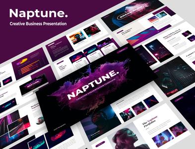 Naptune – Creative Business Presentation design branding corporate design ui layout design creative typography presentation template business company profile