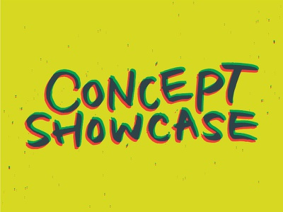 Concept Showcase typography handwriting lettering