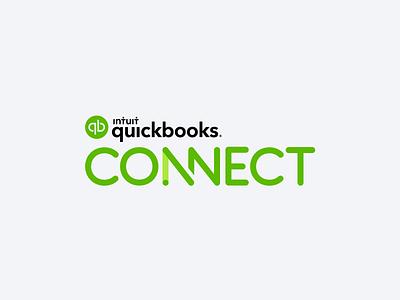 QuickBooks Connect Logo intuit motion design motion animation flat minimal typography vector branding logo design