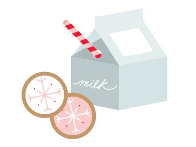holiday illustration illustration milk cookies holiday